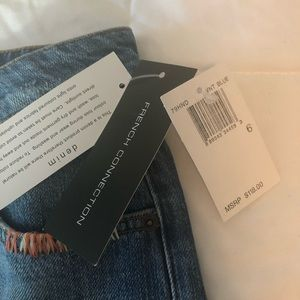 French Connection Shorts - French Connection high rise fray hem 6 shorts NWT